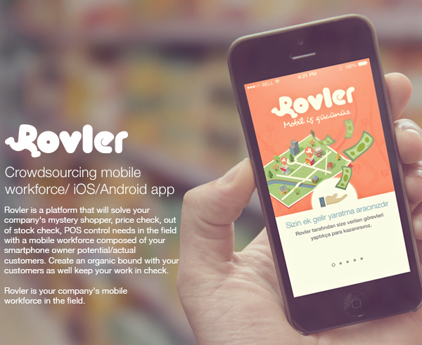 1.Mobile App Design Inspiration – Rovler