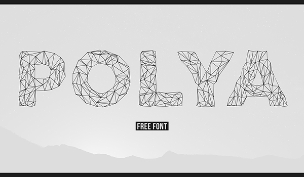 1.low poly font