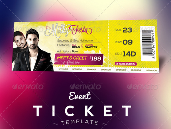 Ticket Psd  Entry Ticket Template