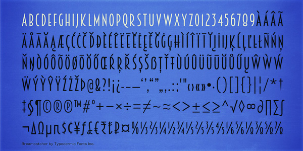 2.Free Font Of The Day  Breamcatcher
