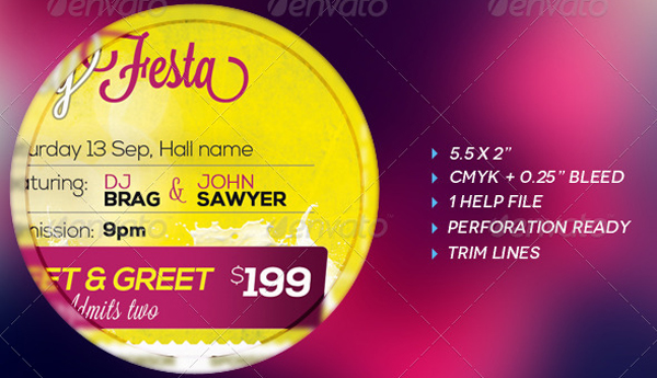 2.ticket Psd  Event Ticket Template Free Download
