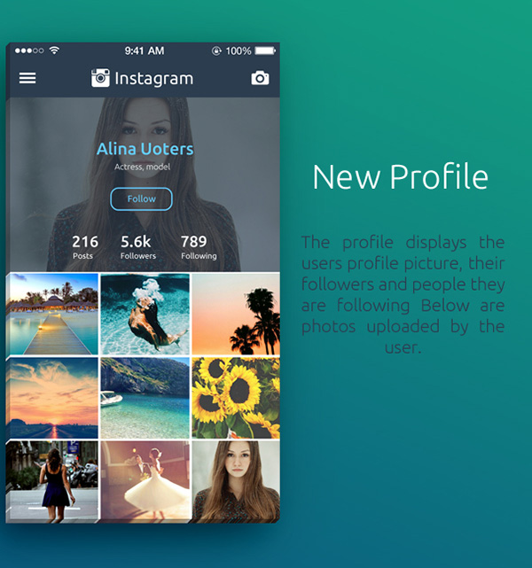 3.Instagram Redesign