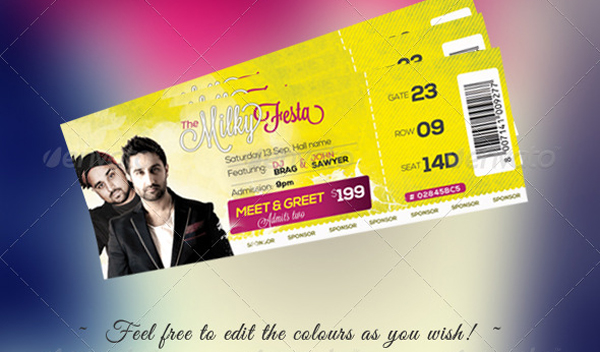 Free Download Event Tickets Template PSD – Event Ticket Template Free