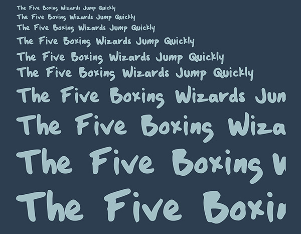 6.Free Font Of The Day  Boxing Wizards