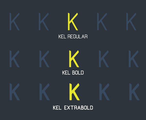 6.Free Font Of The Day  Kel