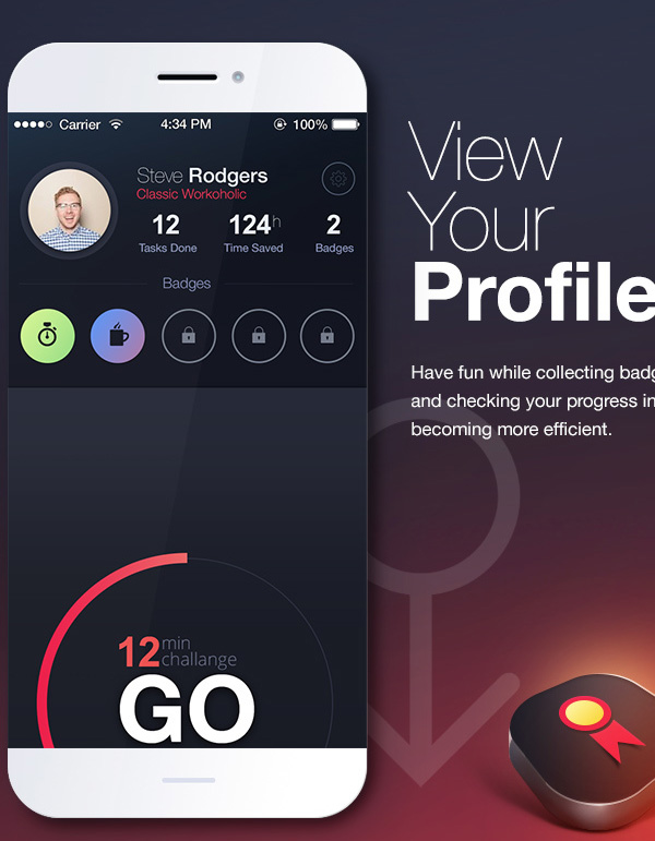 6.Mobile App Design Inspiration – TimeIt