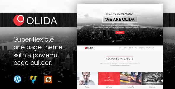 Creative Parallax One Page theme
