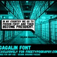 1.Free Font Of The Day  Gagalin