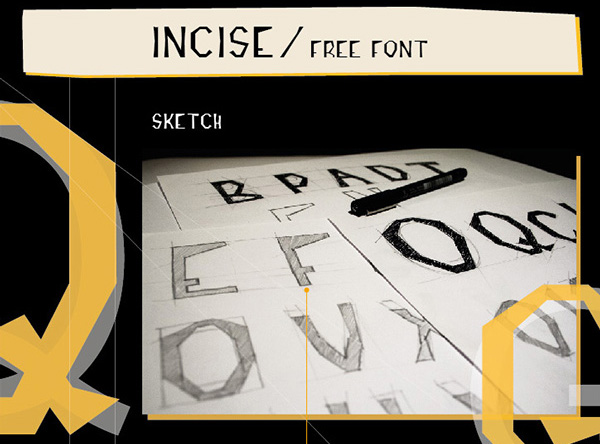 1.Free Font Of The Day  INCISE