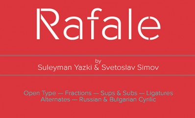 1.Free Font Of The Day  Rafale