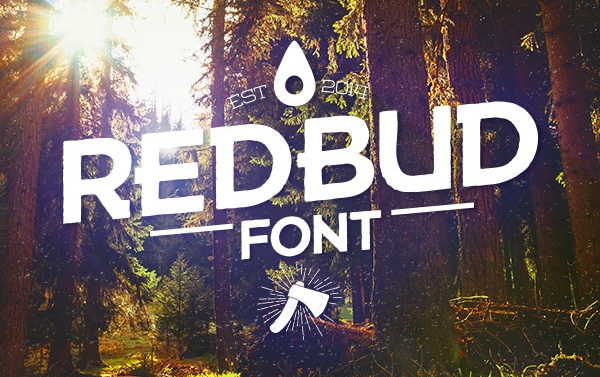 1.Free Font Of The Day  Redbud