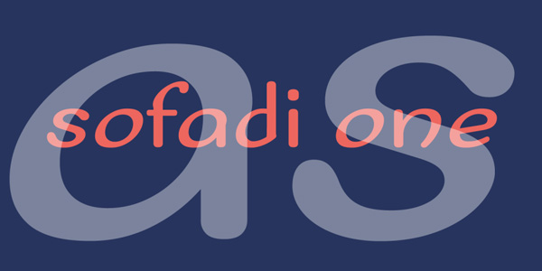 1.Free Font Of The Day  Sofadi One