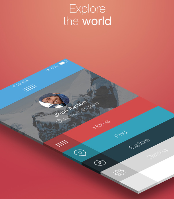 1.Mobile App Design Inspiration – ONLocation