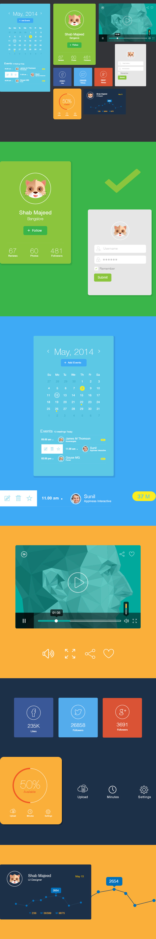 2.Flat UI Design Elements