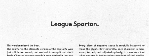 2.Free Font Of The Day  League Spartan