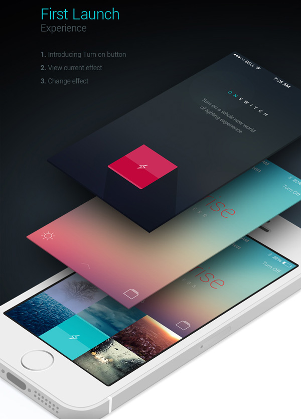 2.Mobile App Design Inspiration – Philips Hue App