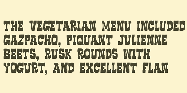 3.Free Font Of The Day  Vaquero FF
