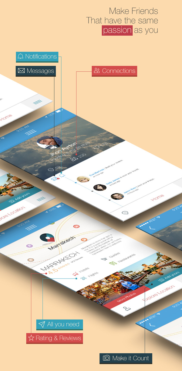 3.Mobile App Design Inspiration – ONLocation
