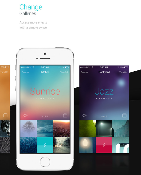3.Mobile App Design Inspiration – Philips Hue App