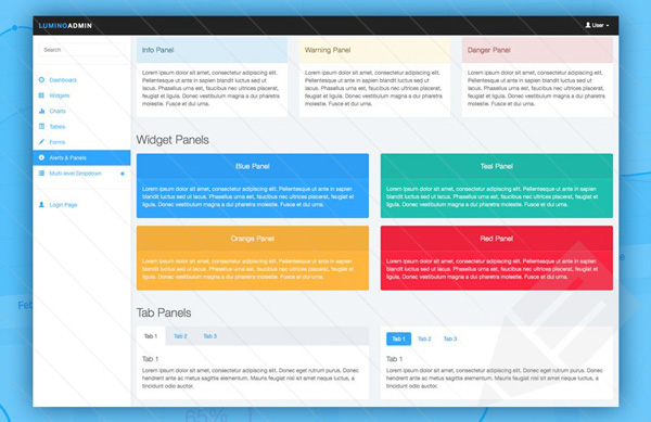 4.Free Bootstrap Admin Template