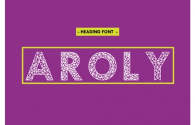 1.Free Font Of Of The Day  Aroly