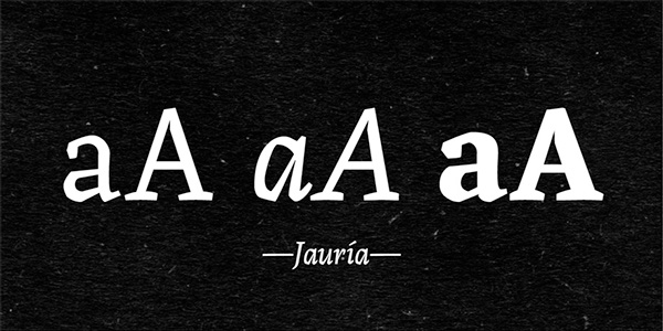 1.Free Font Of Of The Day  Jauría