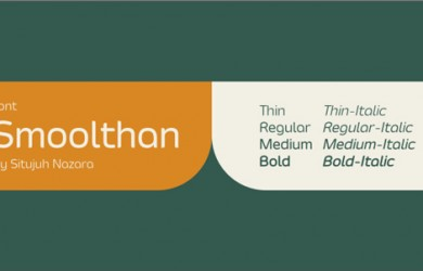 1.Free Font Of Of The Day  Smoolthan