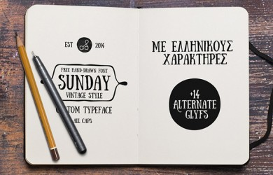 1.Free Font Of Of The Day  Sunday