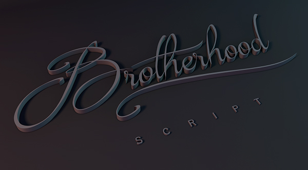 1.Free Font Of The Day  Brotherhood