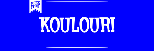 1.Free Font Of The Day  Koulouri