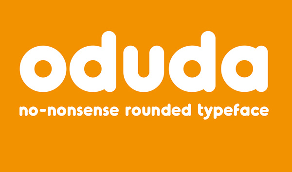 Free Font Of The Day : Oduda