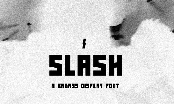 1.Free Font Of The Day  Slash