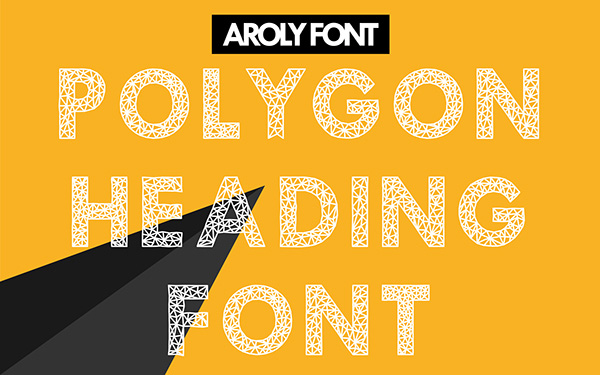 2.Free Font Of Of The Day  Aroly