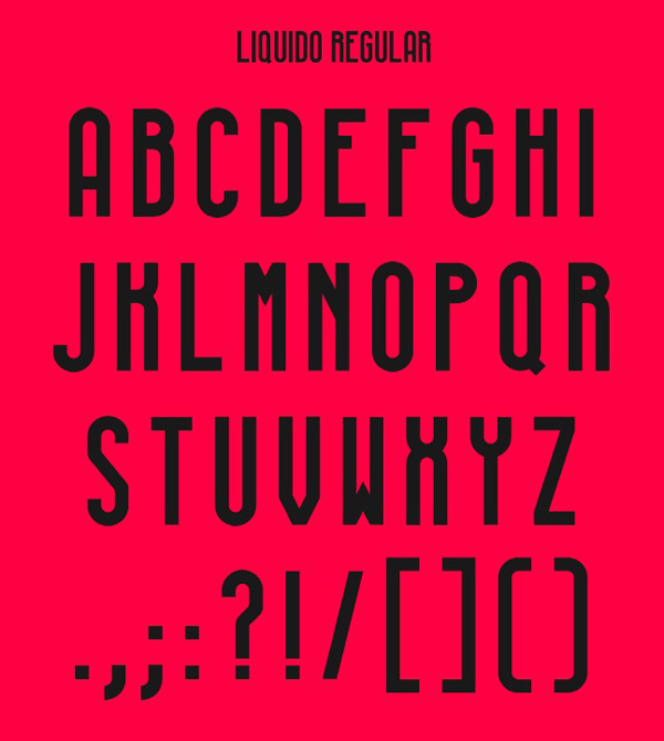 2.Free Font Of The Day  LIQUIDO