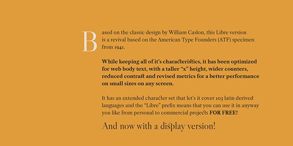 3.Libre Caslon Display