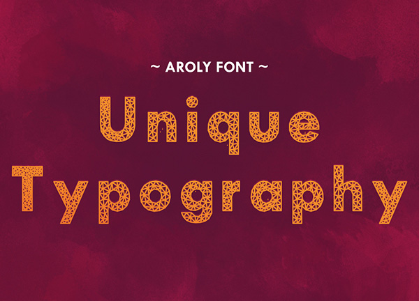 4.Free Font Of Of The Day  Aroly