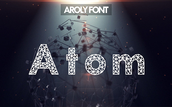 5.Free Font Of Of The Day  Aroly