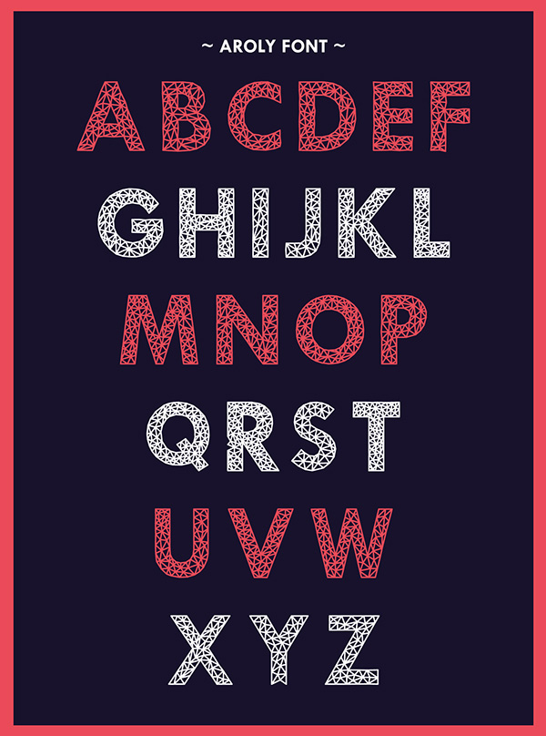 6.Free Font Of Of The Day  Aroly
