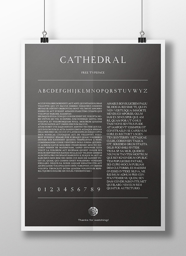 6.Free Font Of Of The Day  Cathedral