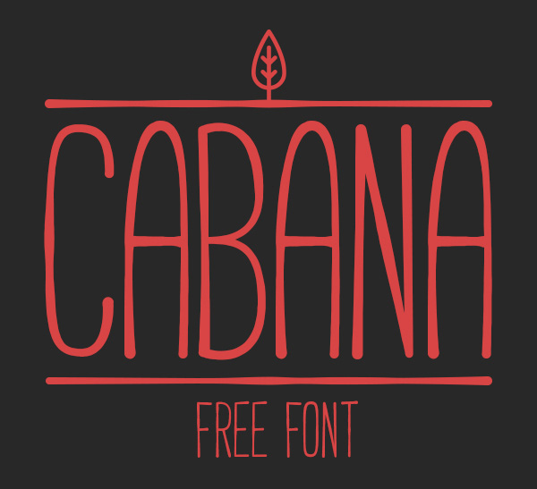 1.Free Font Of The Day  CABANA