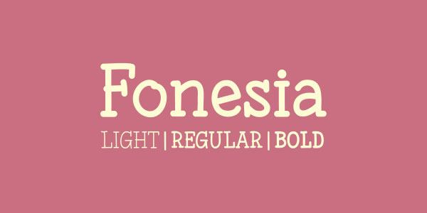 1.Free Font Of The Day  Fonesia