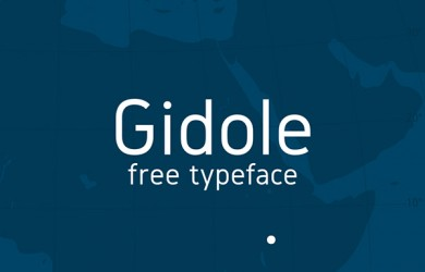 1.Free Font Of The Day  Gidole