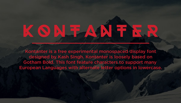 1.Free Font Of The Day  Kontanter