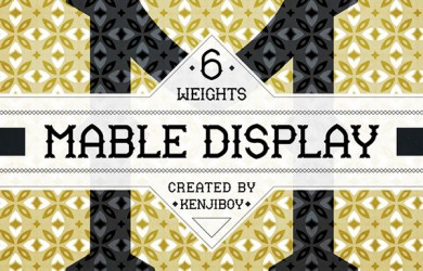 1.Free Font Of The Day  Mable Display