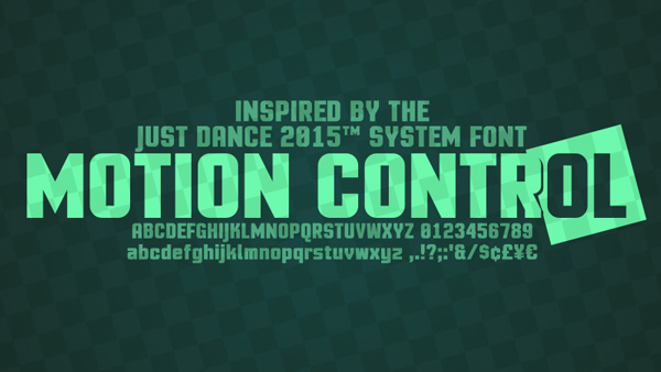 1.Free Font Of The Day  Motion Control