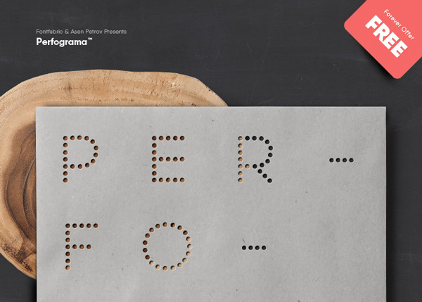 1.Free Font Of The Day  Perfograma