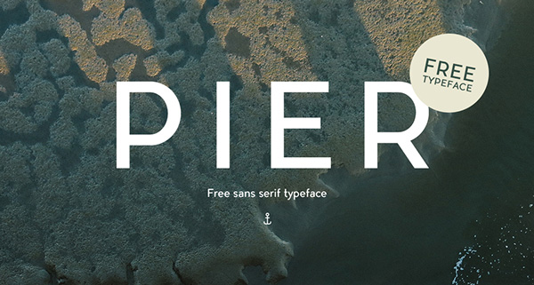 1.Free Font Of The Day  Pier