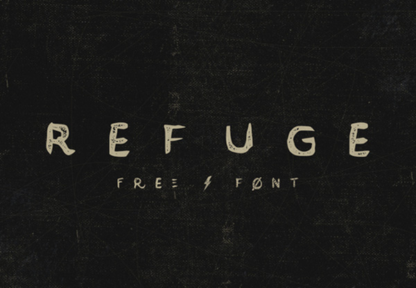 1.Free Font Of The Day  Refuge