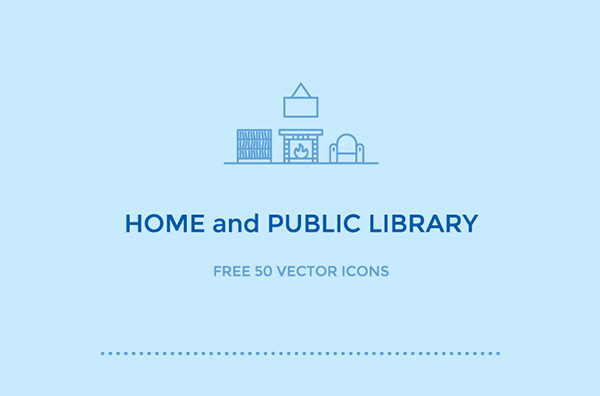 1.Free Home and Public Library Icons