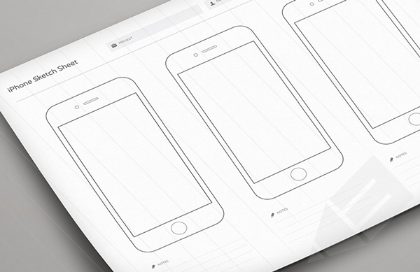 1.Wireframe Sketch Sheets